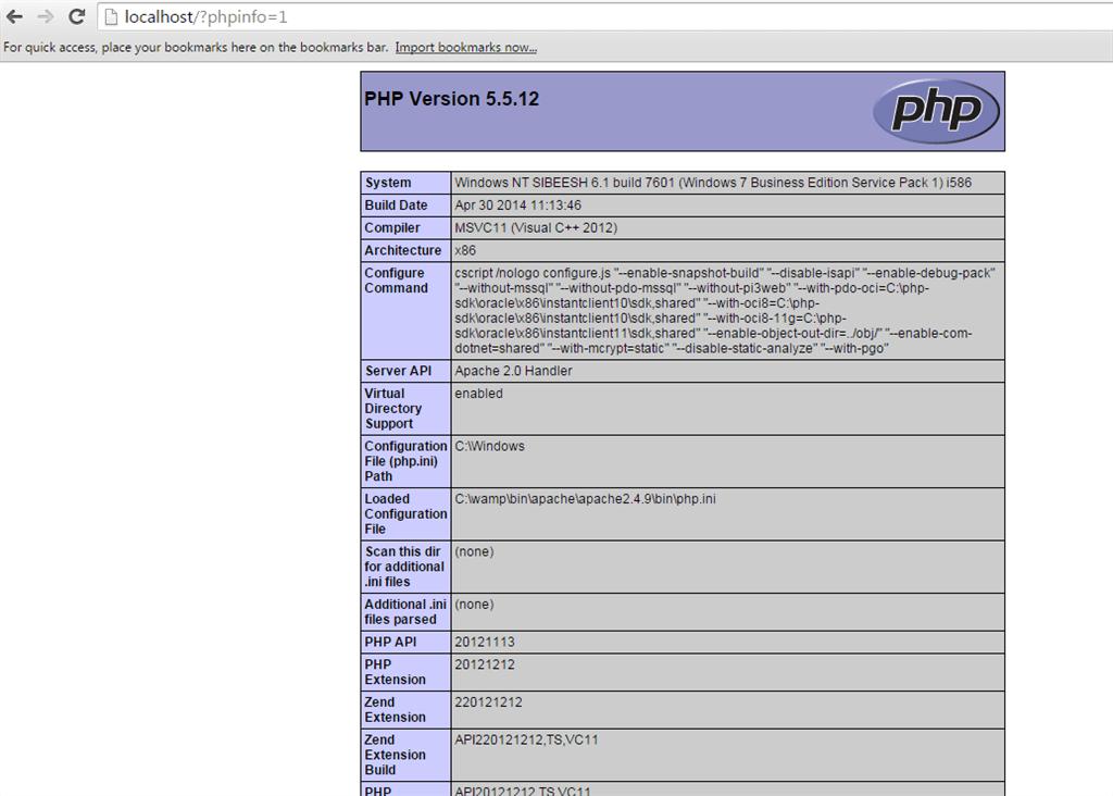 Phpinfo Errors
