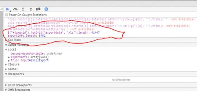 Compress XML, String, Variables in Client Side and Export2
