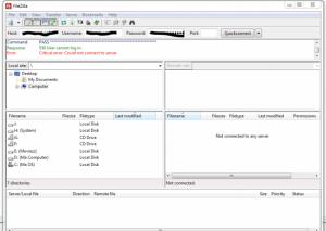Using FileZilla Application