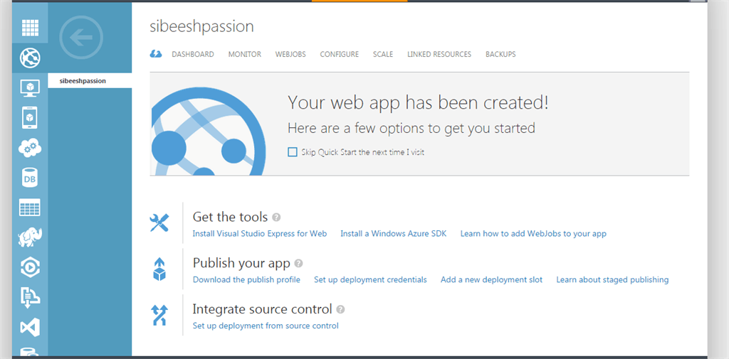 Web App In Azure