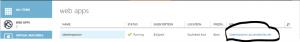 Web App URL in Azure