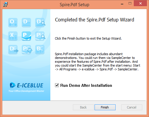 Using_Spire_PDF_Installing_Complete