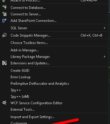 Show Or Hide Line numbers In Documents In Visual Studio