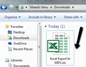 Excel Export In MDX