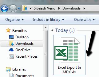 Excel Export In MDX
