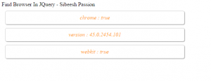 Find Browser And Browser Version Using jQuery