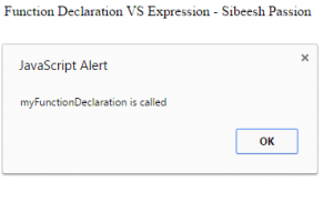 Function Declaration And Function Expression