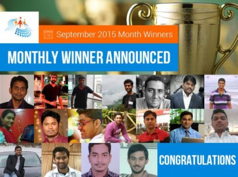 September 2015 Month Winner In C-SharpCorner