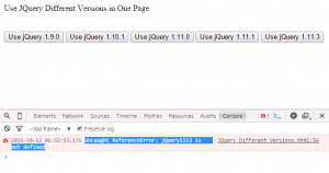 jQuery no-conflict And Using Different Versions Of JQuery