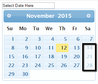 Disable Dates In Datepicker | Sibeesh Passion