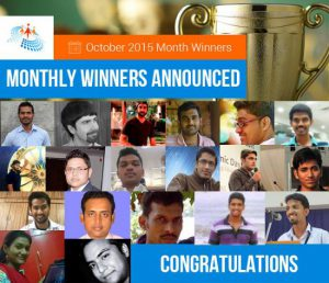 October 2015 Month Winner