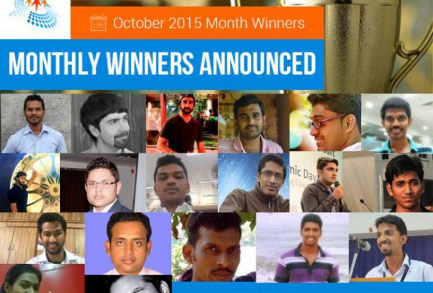 October 2015 Month Winner