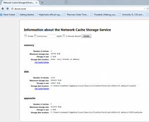 See Cached Files In Mozilla