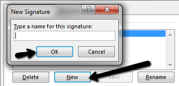 Create New Signature In Outlook