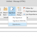Signature Tab In Outlook