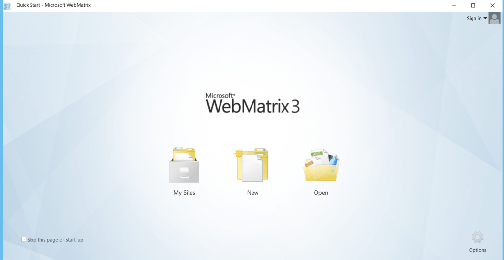 WebMatrix Homepage