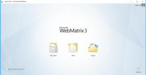 WebMatrix Homepage