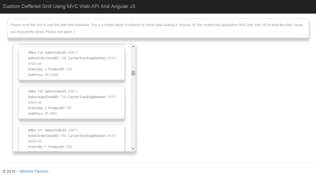 Custom Deffered Grid Using MVC Web API And Angular JS Deferred Output