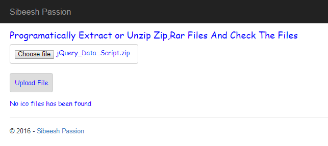 Programmatically Extract or Unzip Zip,Rar Files And Check