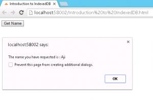 IndexedDB Get The Data With Key