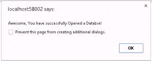 IndexedDB OnSuccess Alert