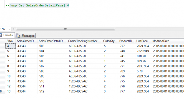 Stored Procedure With Common Table Expression Or CTE
