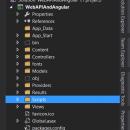 Web API With Angular JS Solution Explorer
