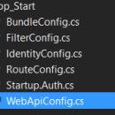 WebApi Config File