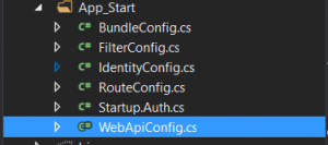 WebApi Config File