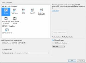 Empty Template With MVC And Web API Folders