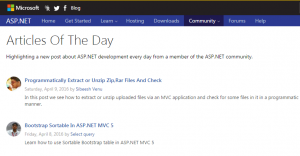 Asp Net Article Of The Day April 09 2016