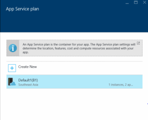 Available App Service Plan In Azure