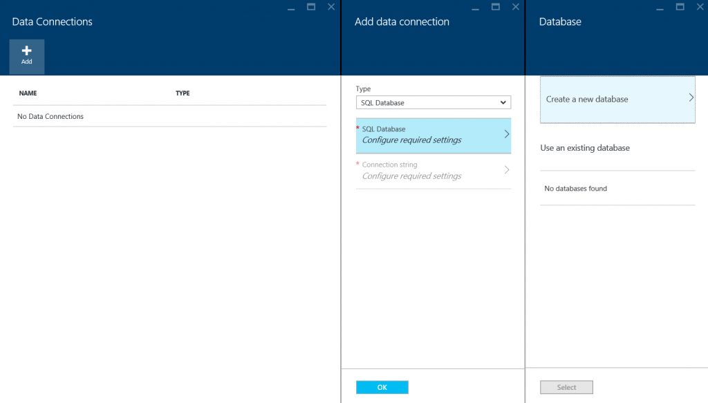Data Connections In Azure Mobile App