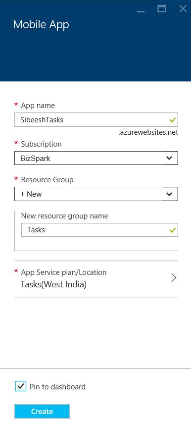 Mobie App Service
