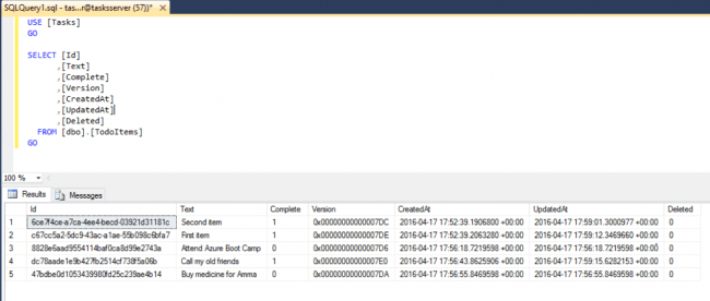Querying Azure SQL Database In SSMS