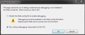 Run without debugging