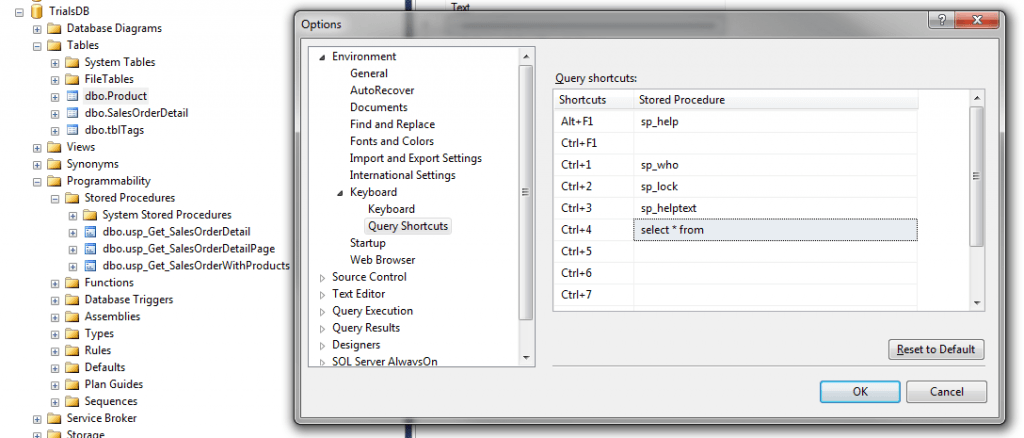 Selct_Query_As_Keyboard_Shortcut