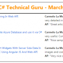 Visual C# Technical Guru - March 2016