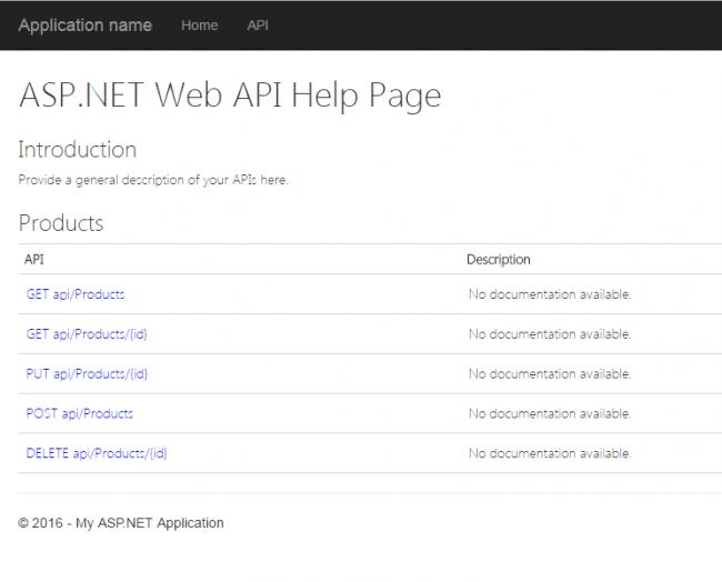 API Help Page