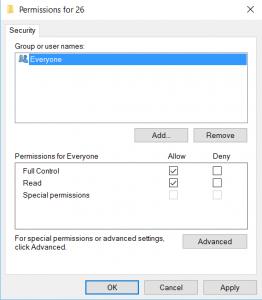 Setting permission in RegEdit