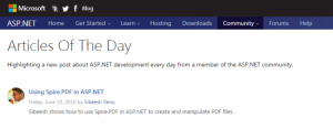Asp Net Article Of The Day Jun 10