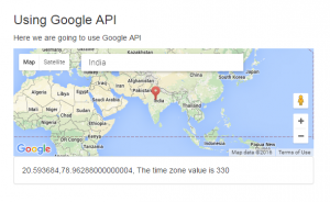 Time zone calculation using Google API