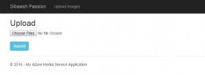 Upload Images To Azure Media Service Upload View