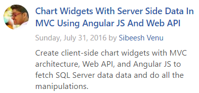 Asp Net Article Of The Day 31st July 2016