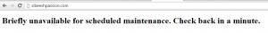 Briefly Unavailable Error