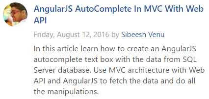 AspNet Article Of The Day August 12 2016