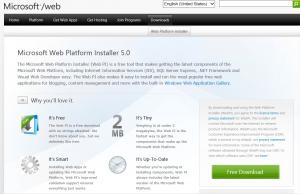 Download Microsoft Web Platform Installer