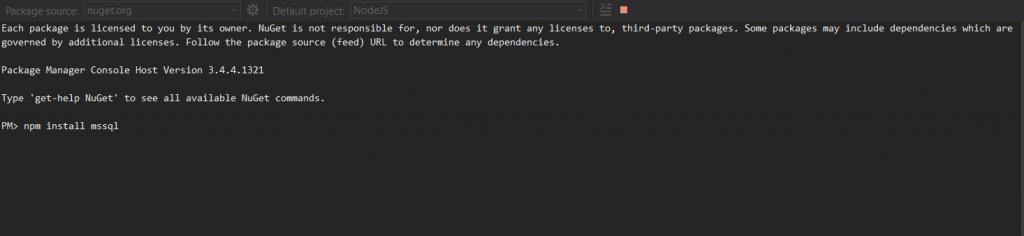 mssql_node_js_install