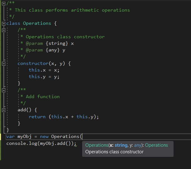 JSDoc_reflects_while_creating_instances