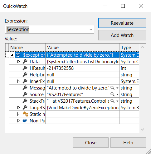 Quickwatch_in_VS2017